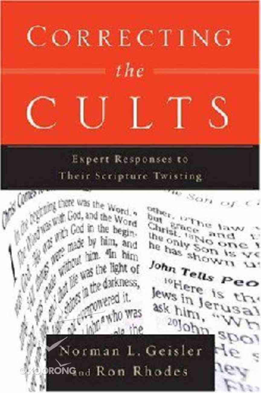 Correcting the Cults Paperback