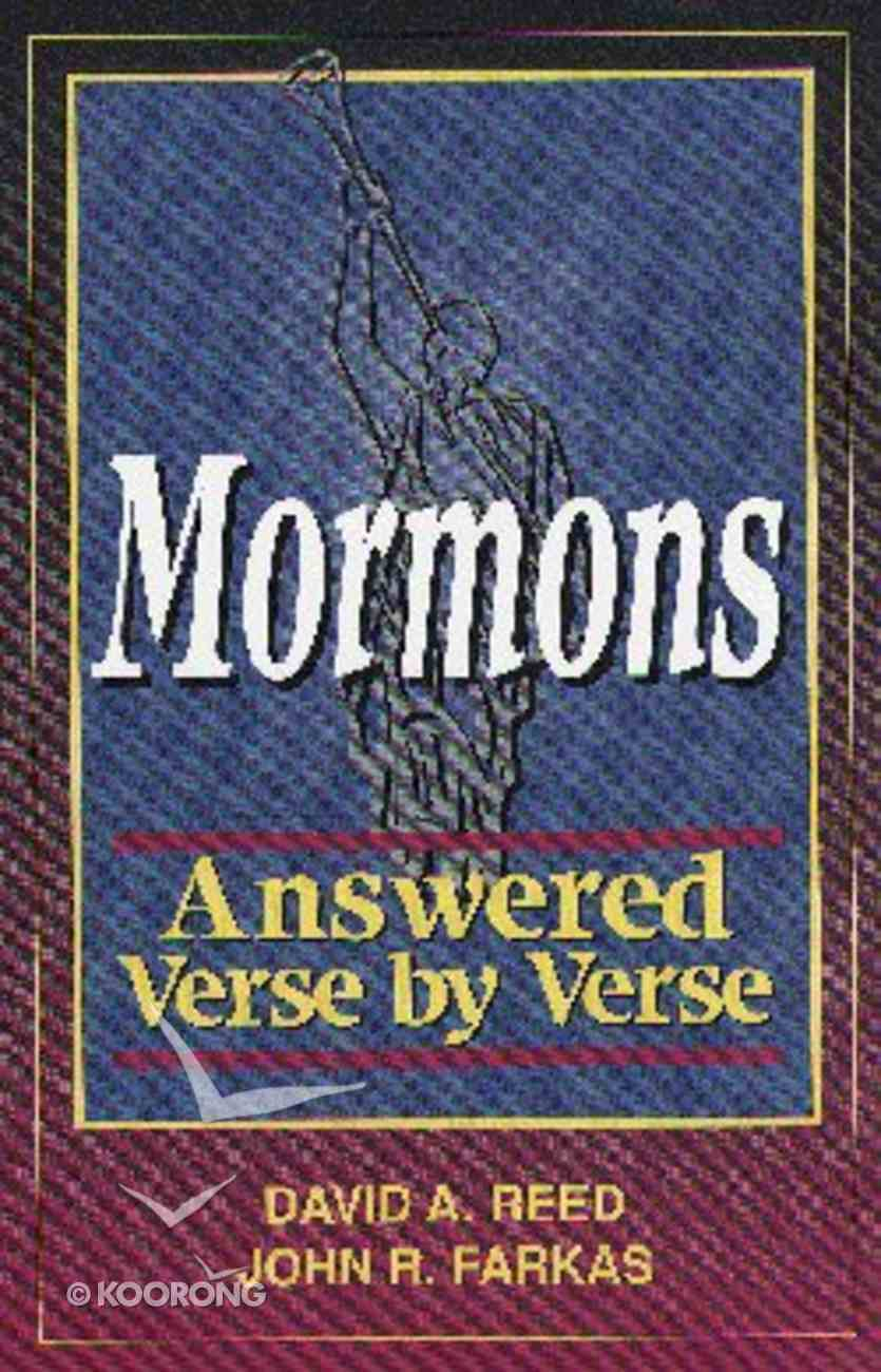 Mormons Answered Verse By Verse Paperback