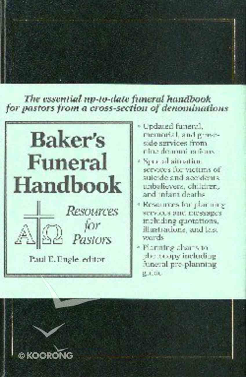 Baker's Funeral Handbook Bonded Leather