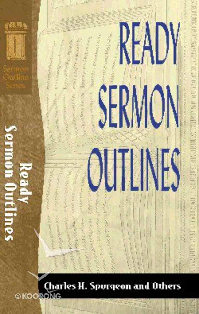 Sos: Ready Sermon Outlines (Sermon Outline Series) Paperback