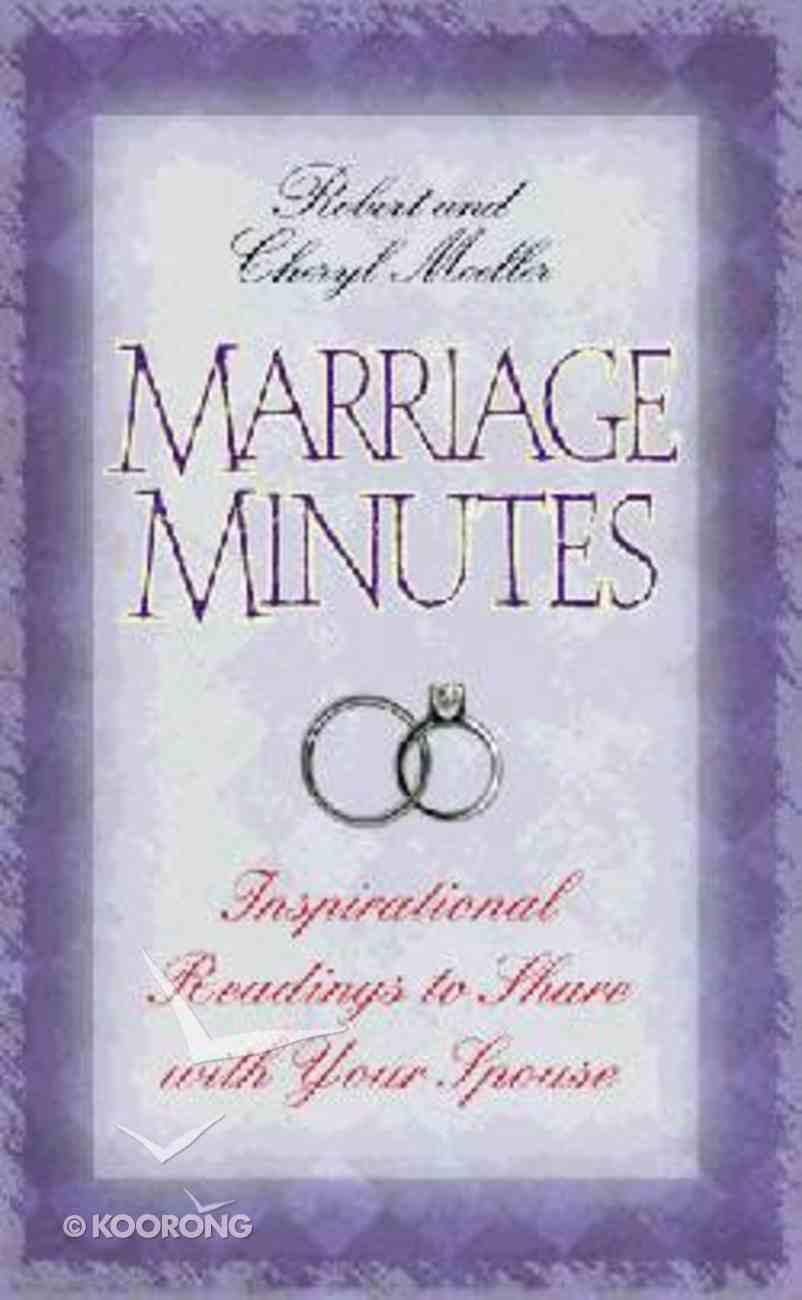 Marriage Minutes Hardback