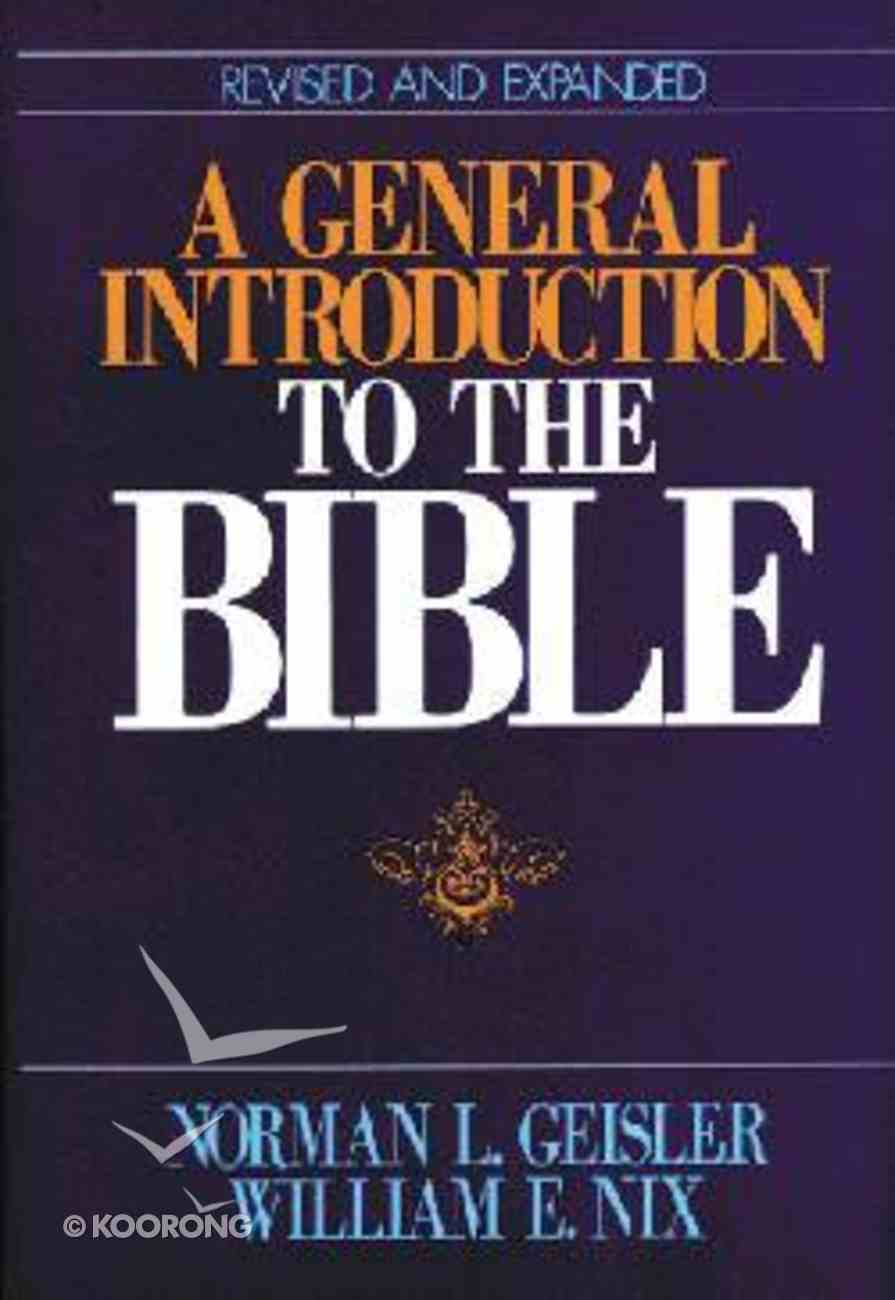 A General Introduction to the Bible Hardback