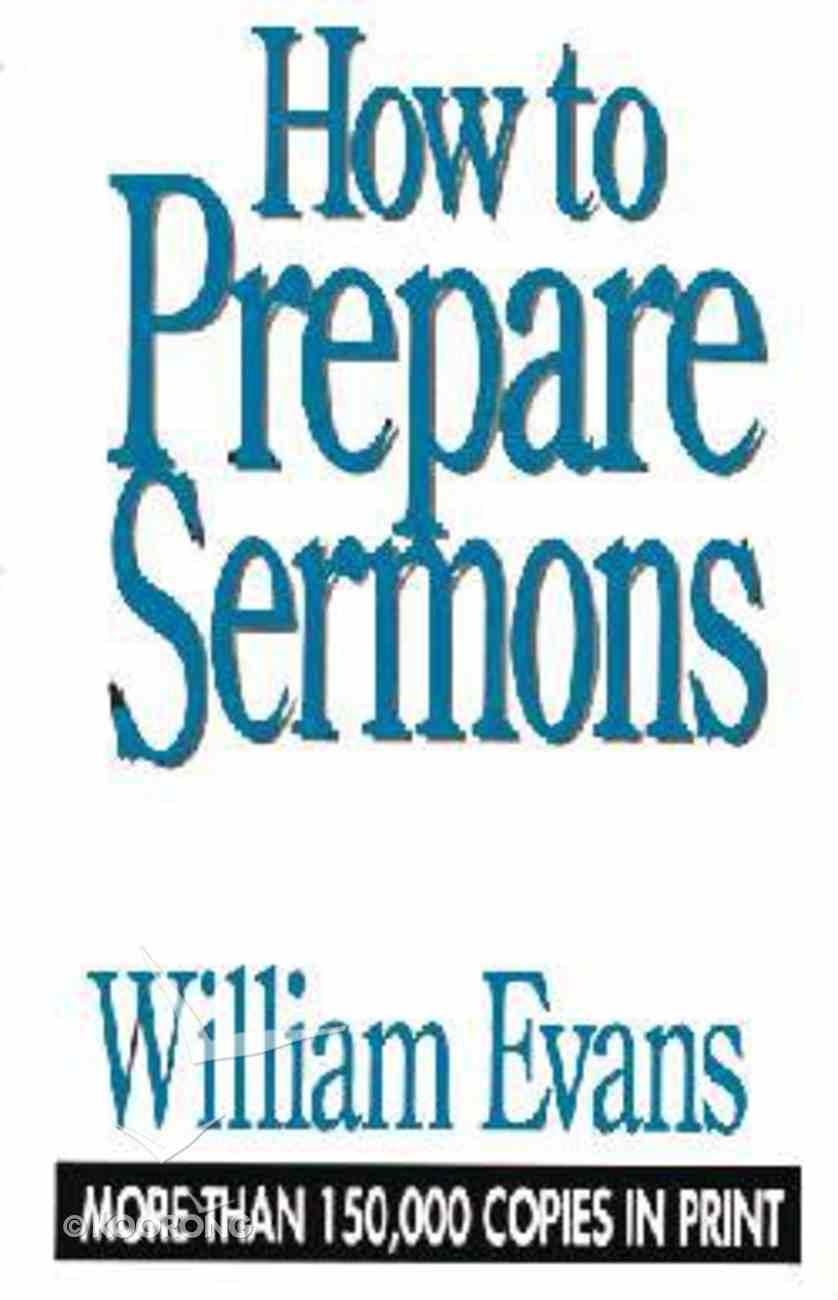 How to Prepare Sermons Hardback