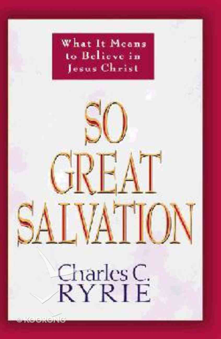 So Great Salvation Paperback