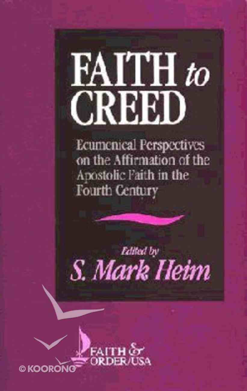 Faith to Creed Paperback