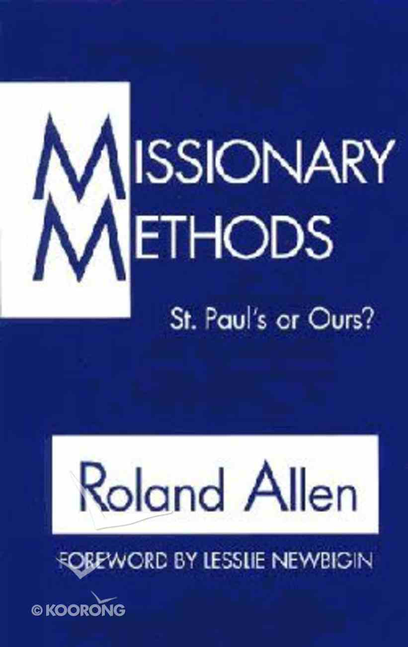 Missionary Methods Paperback