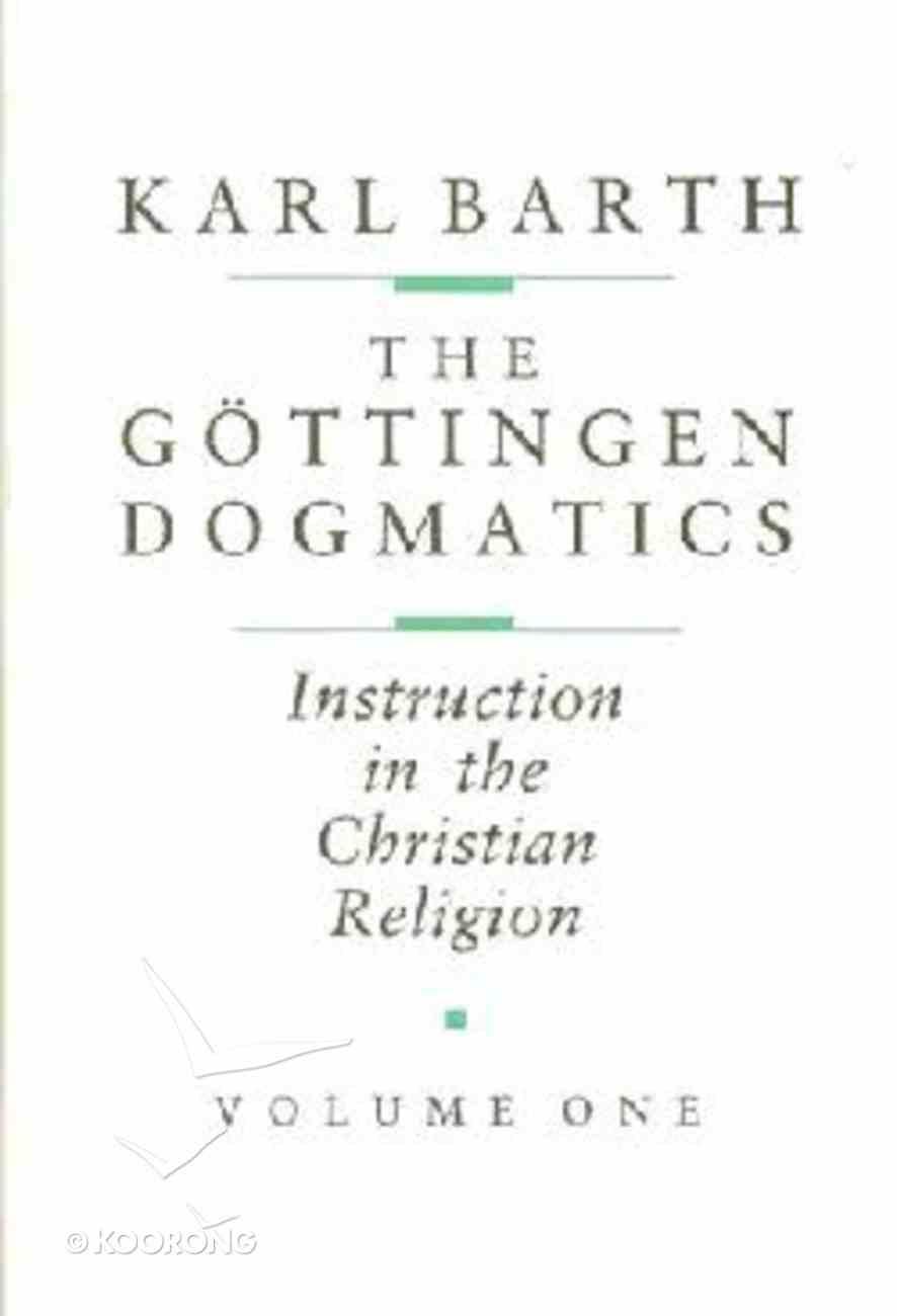 The Gottingen Dogmatics Hardback