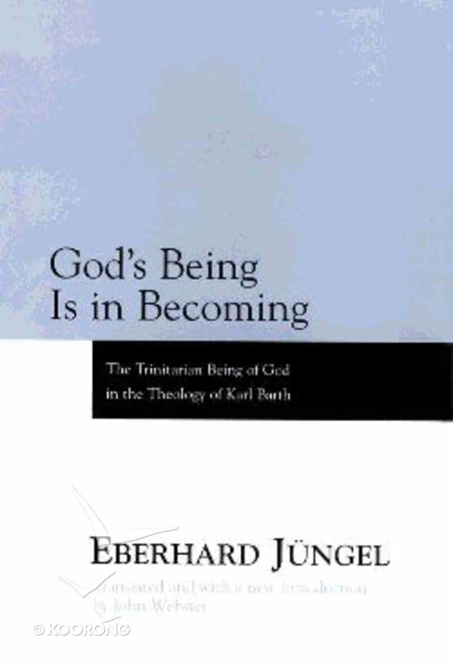 God's Being is in Becoming Hardback
