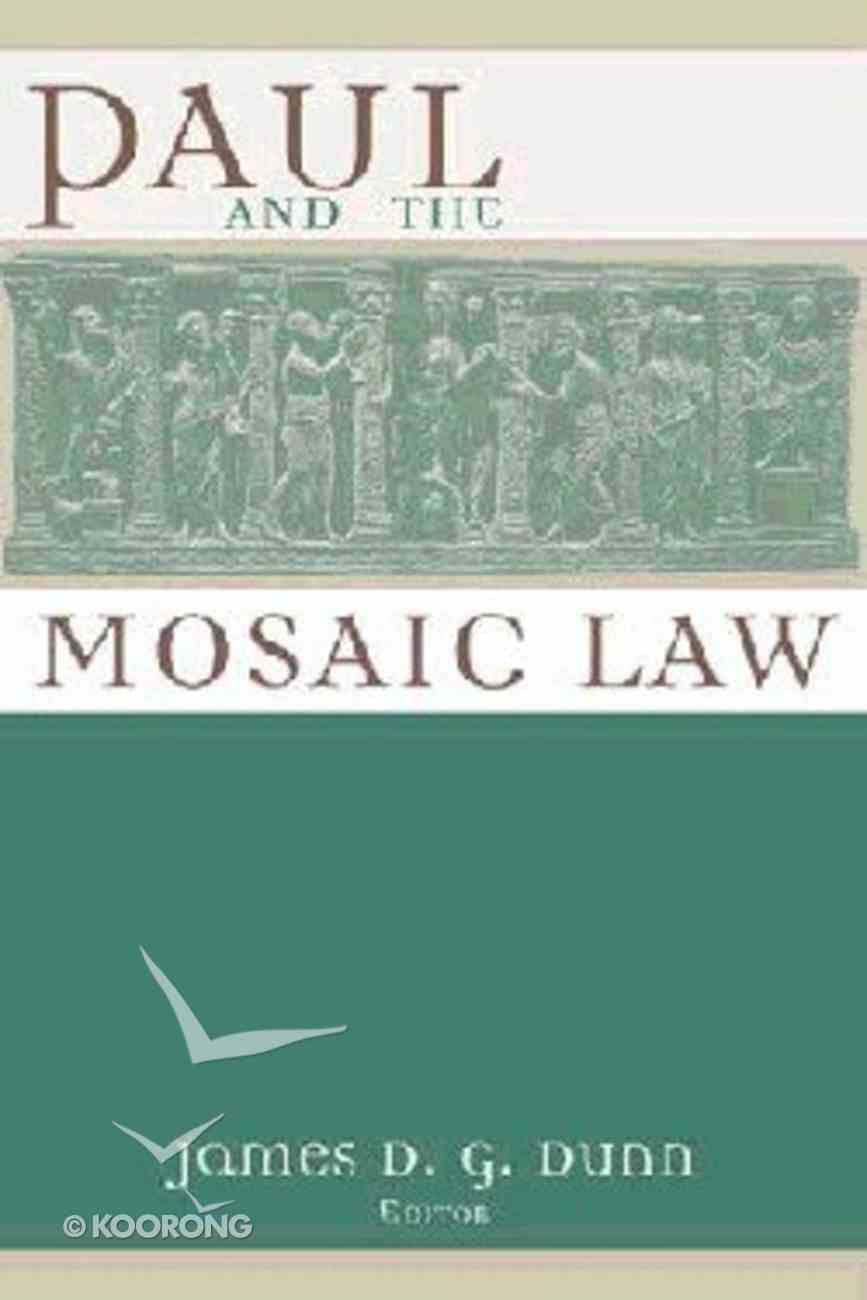 Paul and the Mosaic Law Paperback