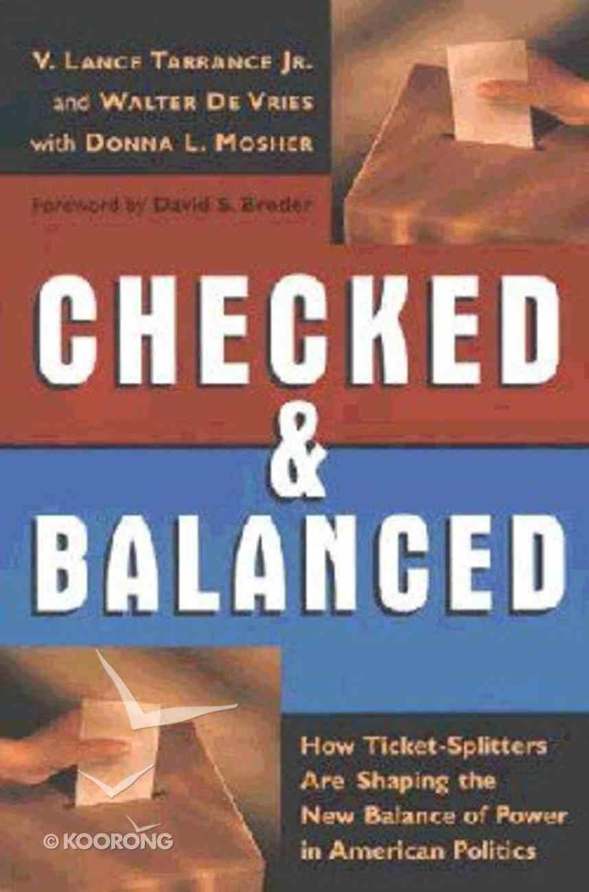 Checked & Balanced Paperback