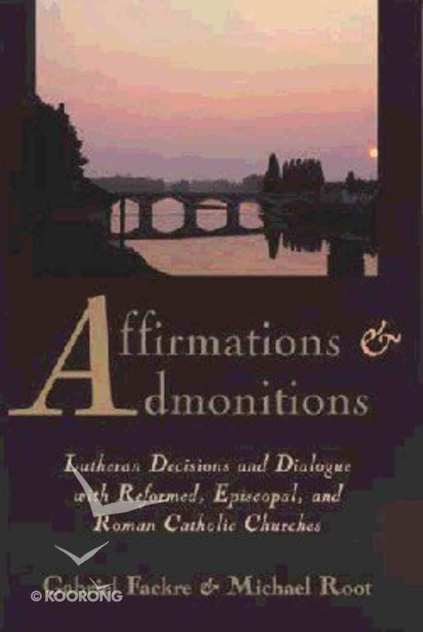 Affirmations & Admonitions Paperback