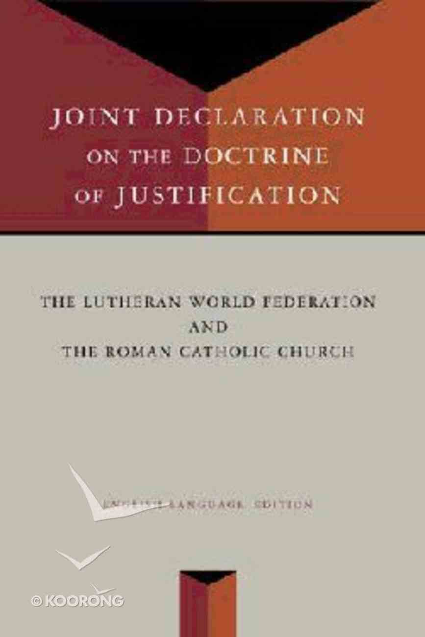 Joint Declaration on the Doctrine of Justification Paperback