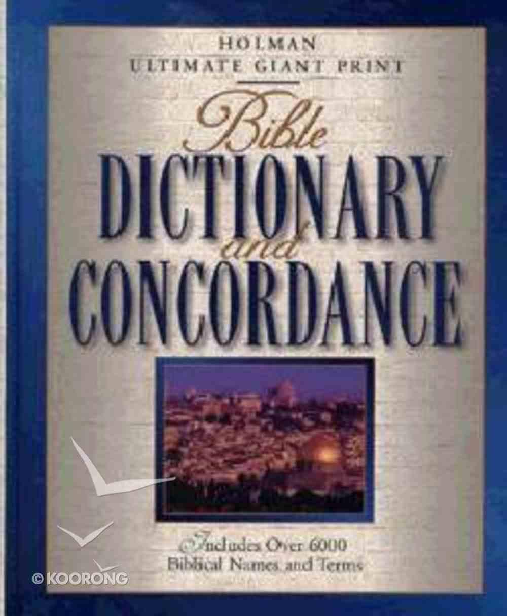 Bible Dictionary and Concordance Hardback