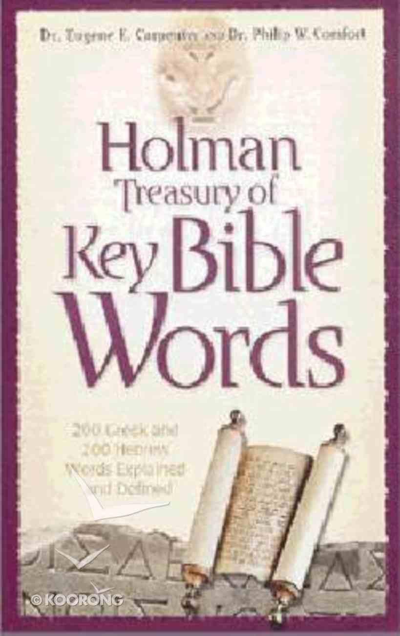 Holman Treasury of Key Bible Words Paperback