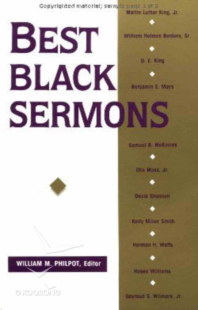 Best Black Sermons Paperback