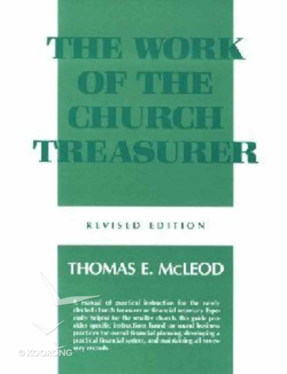 The Work of the Church Treasurer (Work Of The Church Series) Paperback