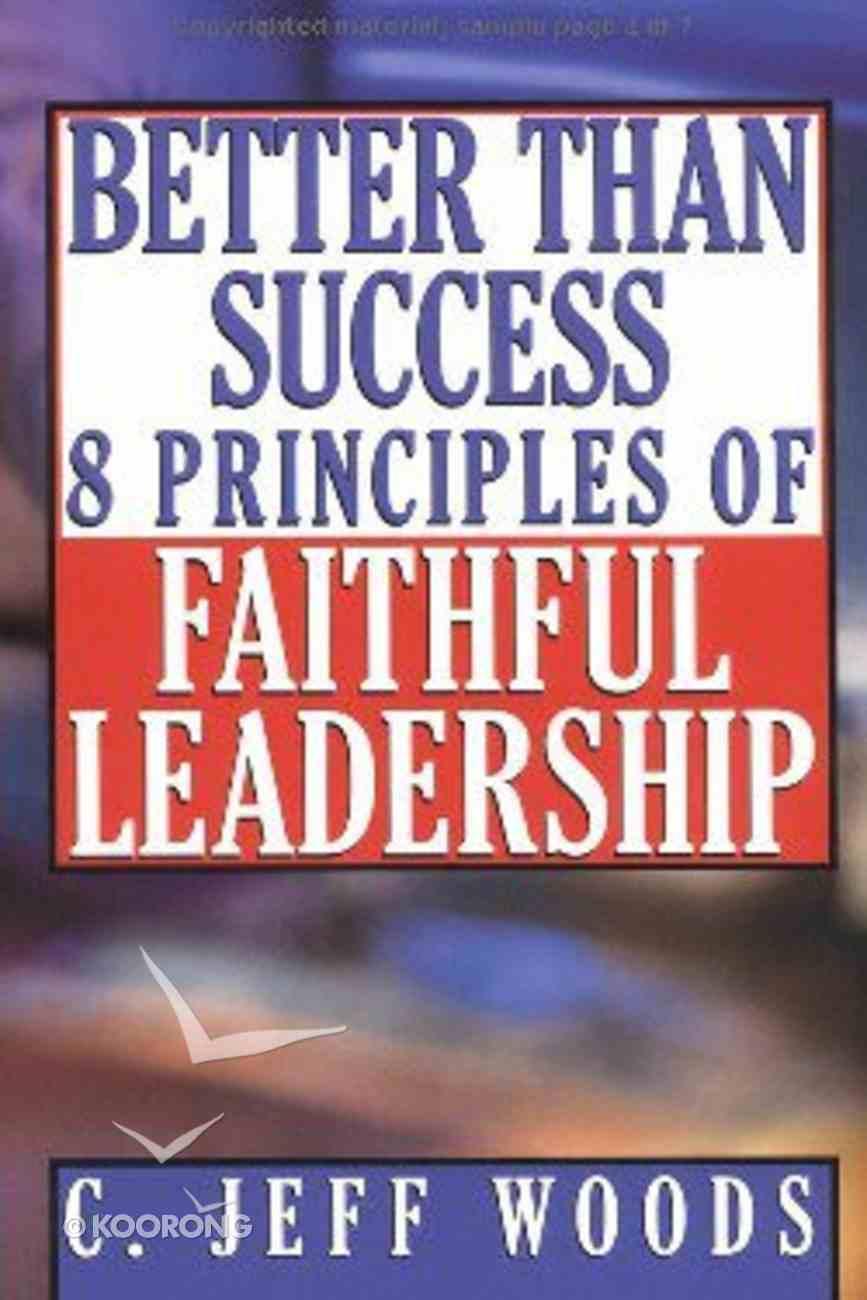 Better Than Success Paperback
