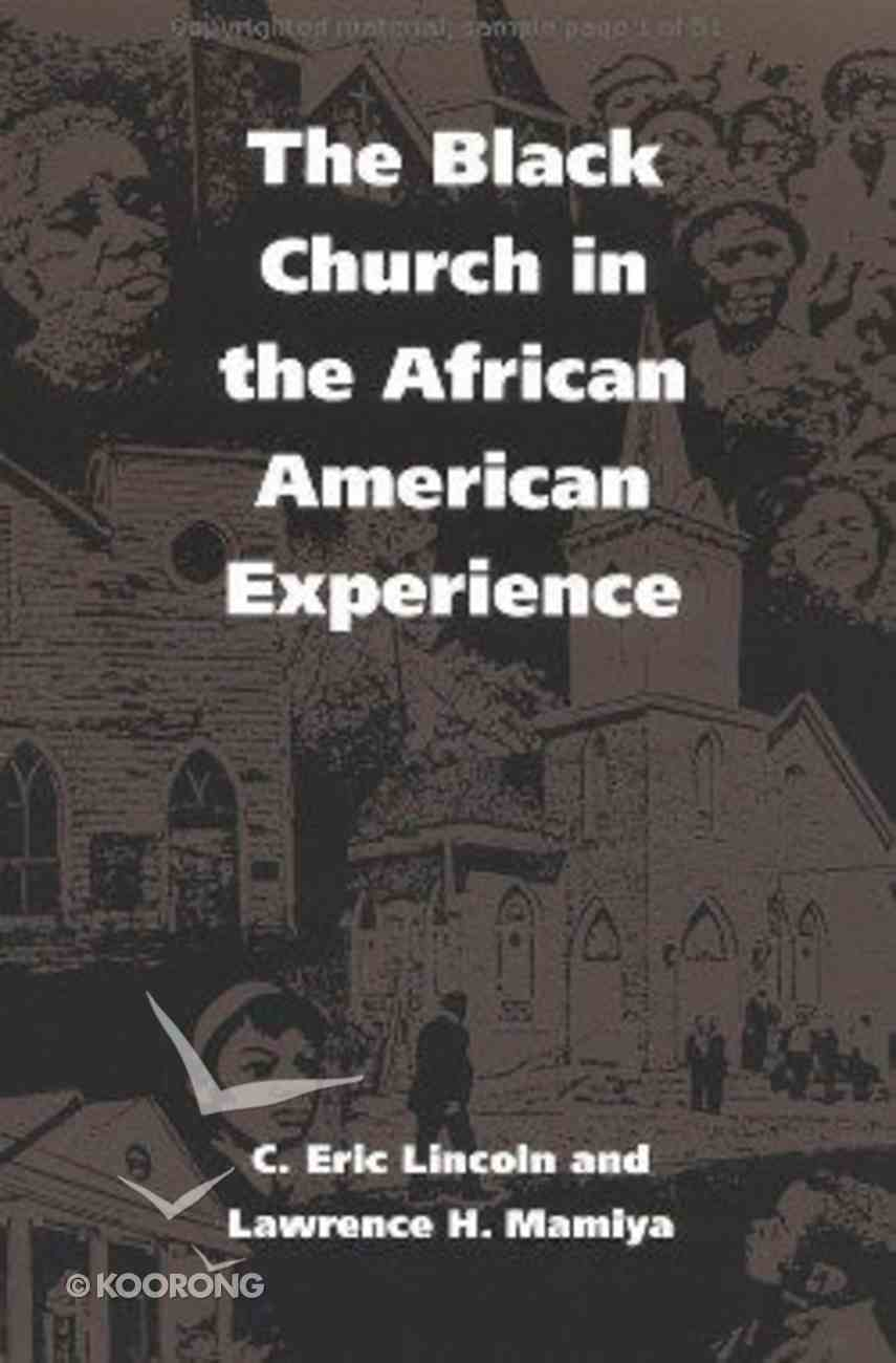 The Black Church in the African American Experience Paperback