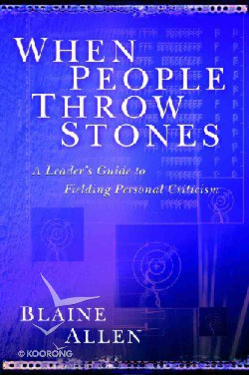 When People Throw Stones Paperback
