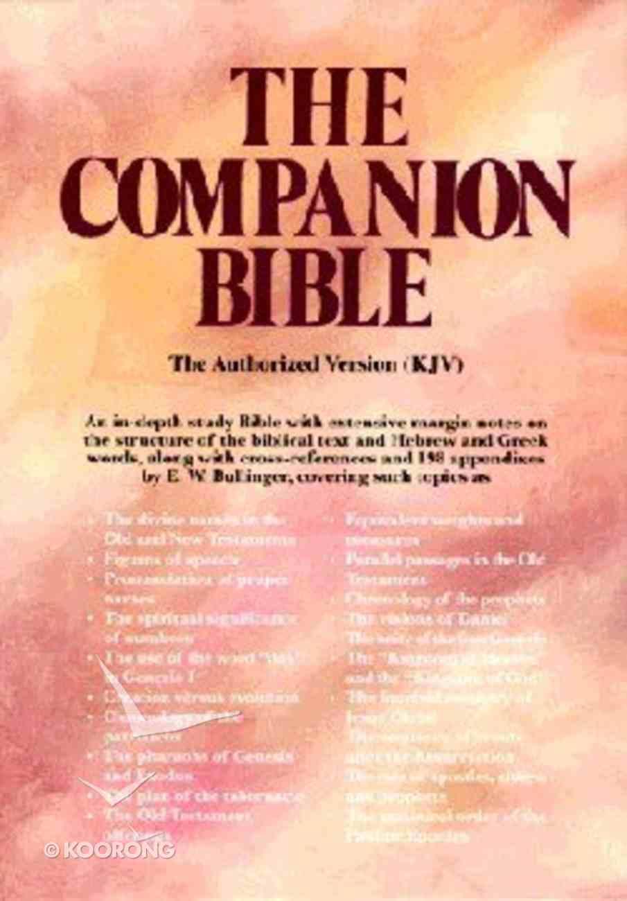 KJV Companion Bible, the Burgundy Hardback