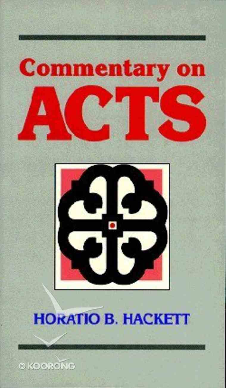 Commentary on Acts Paperback