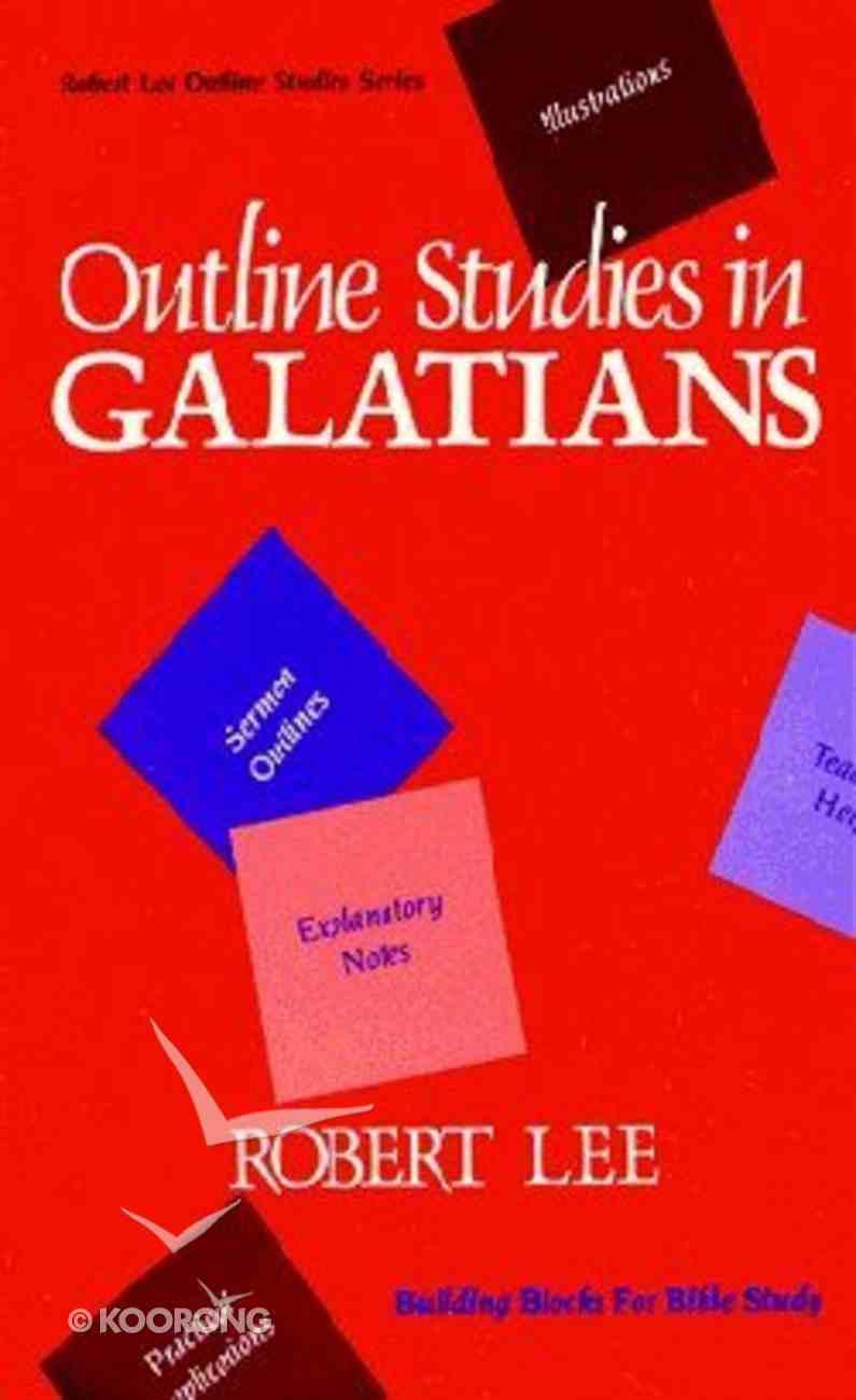 Outline Studies in Galatians Paperback