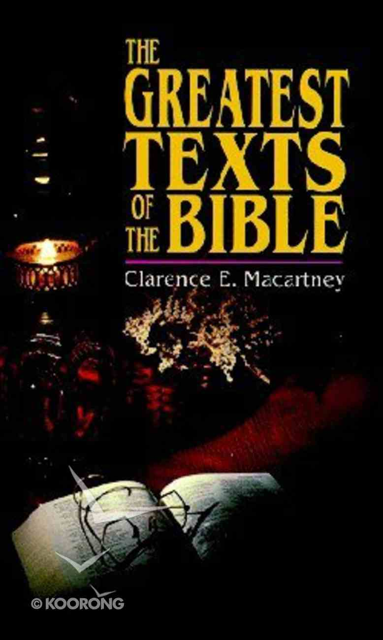 The Greatest Texts of the Bible Paperback