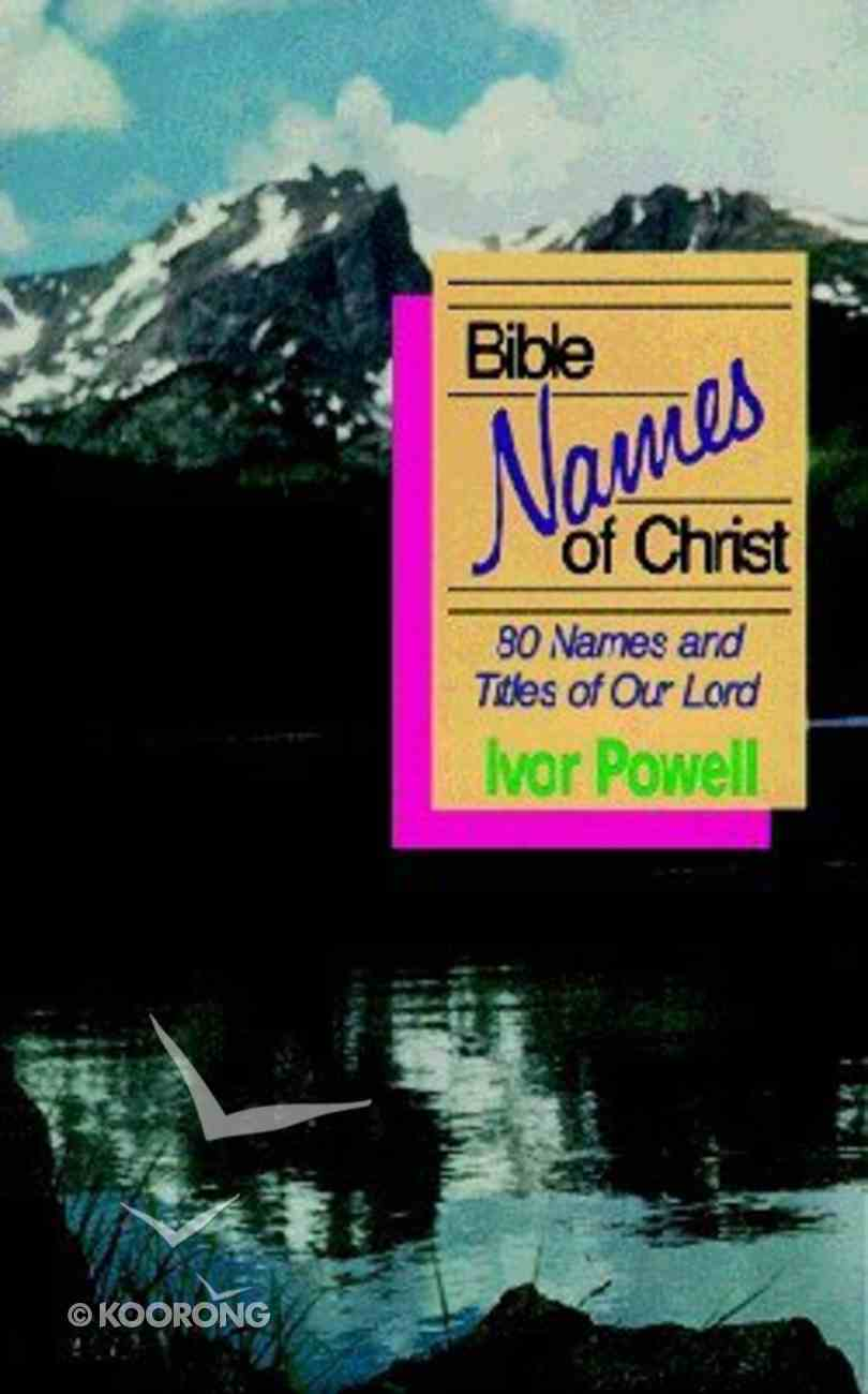 Bible Names of Christ Paperback