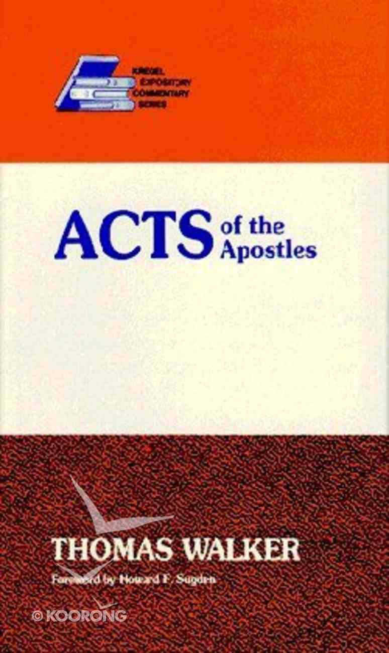 Acts of the Apostles Hardback