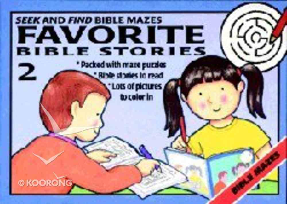 Seek and Find Bible Mazes #2 Paperback