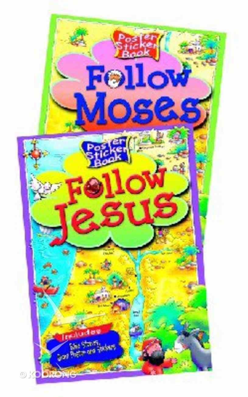 Follow Jesus (Poster Sticker Book Series) Paperback