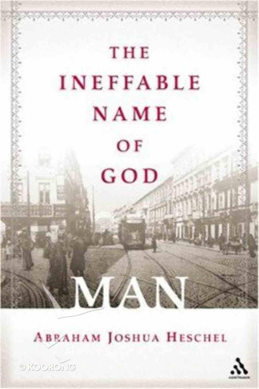 The Ineffable Name of God Hardback