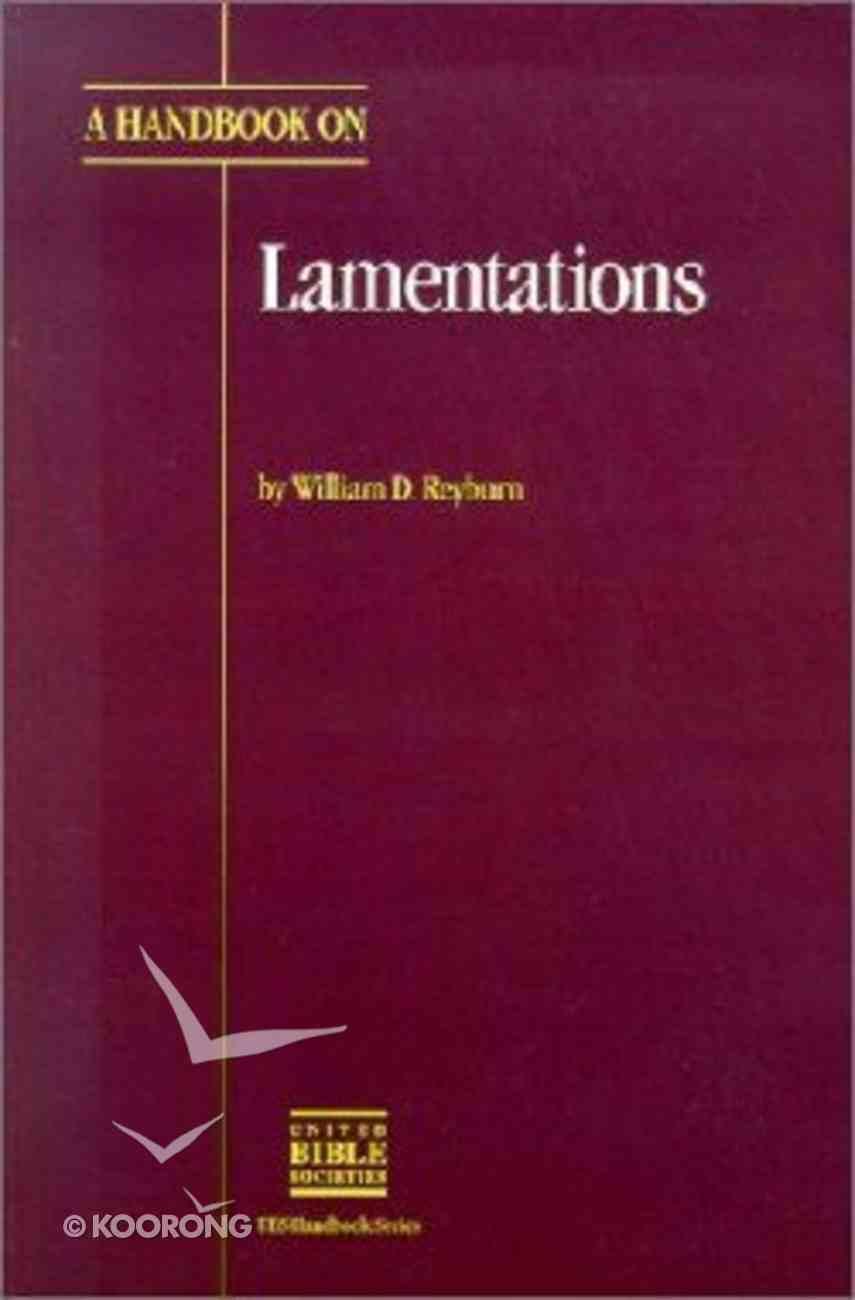 Handbook on Lamentations Paperback