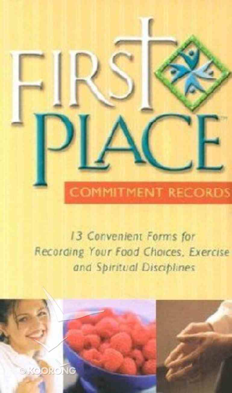 First Place: Commitment Records (13 Pack) (First Place 4 Health Series) Pack