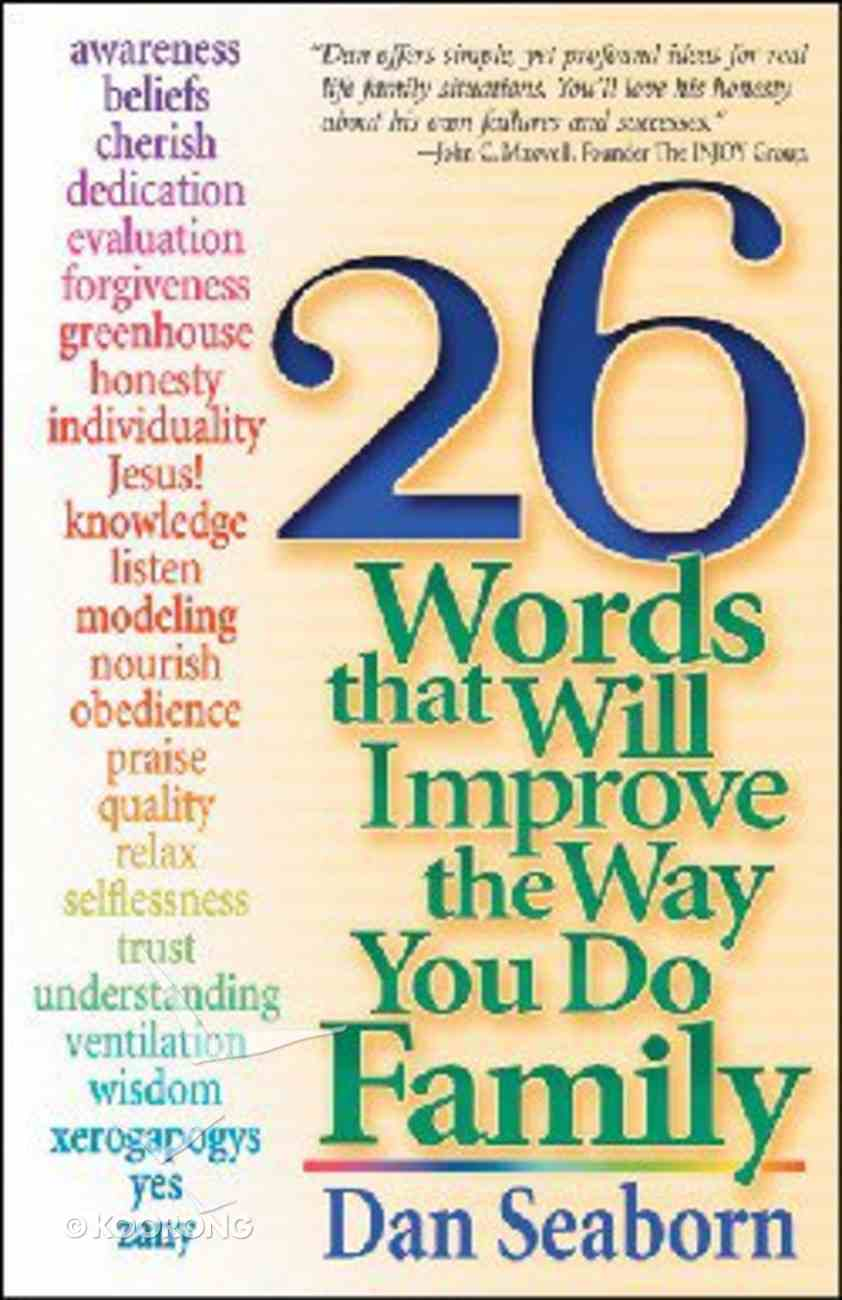 26 Words That Will Improve the Way You Do Family Paperback