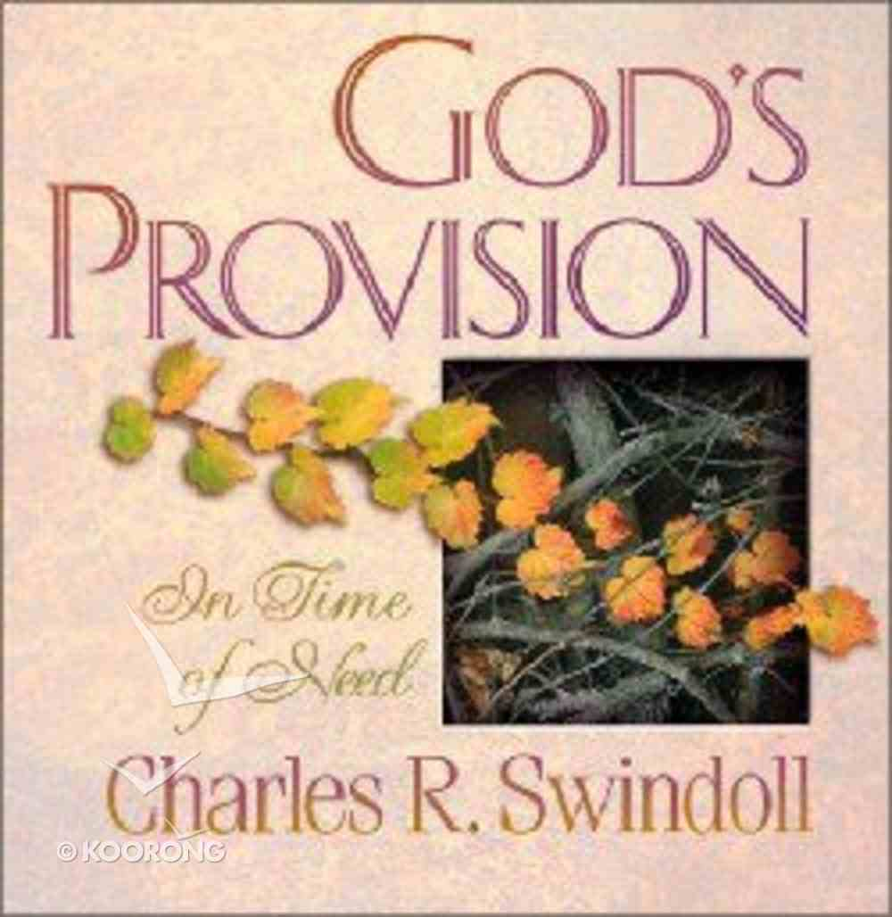 God's Provision in Time of Need Paperback