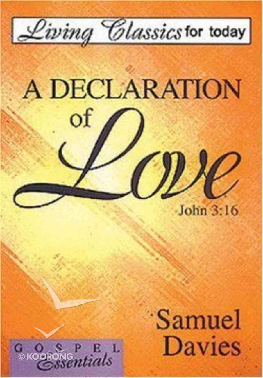 Declaration of Love, a Edited Paperback