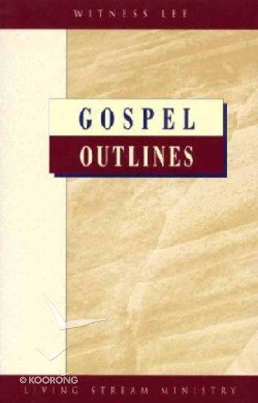 Gospel Outlines Paperback