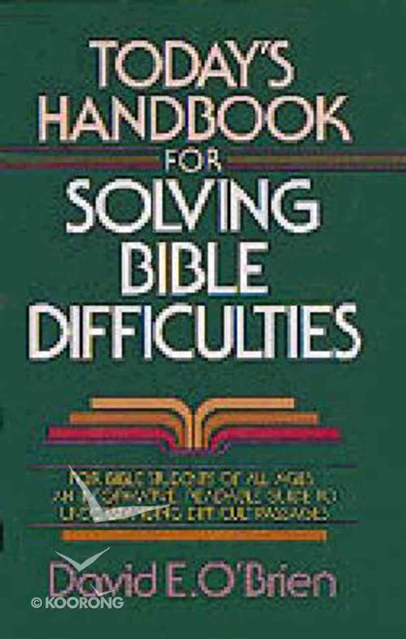 Today's Handbook For Solving Bible Diff Hardback