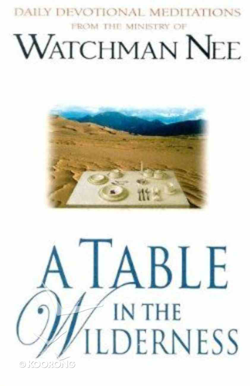 A Table in the Wilderness Paperback