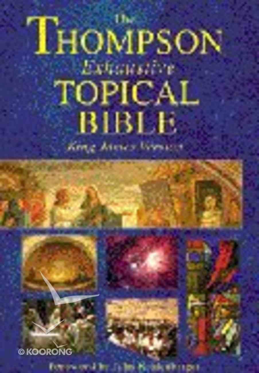 KJV Thompson Exhaustive Topical Bible Hardback