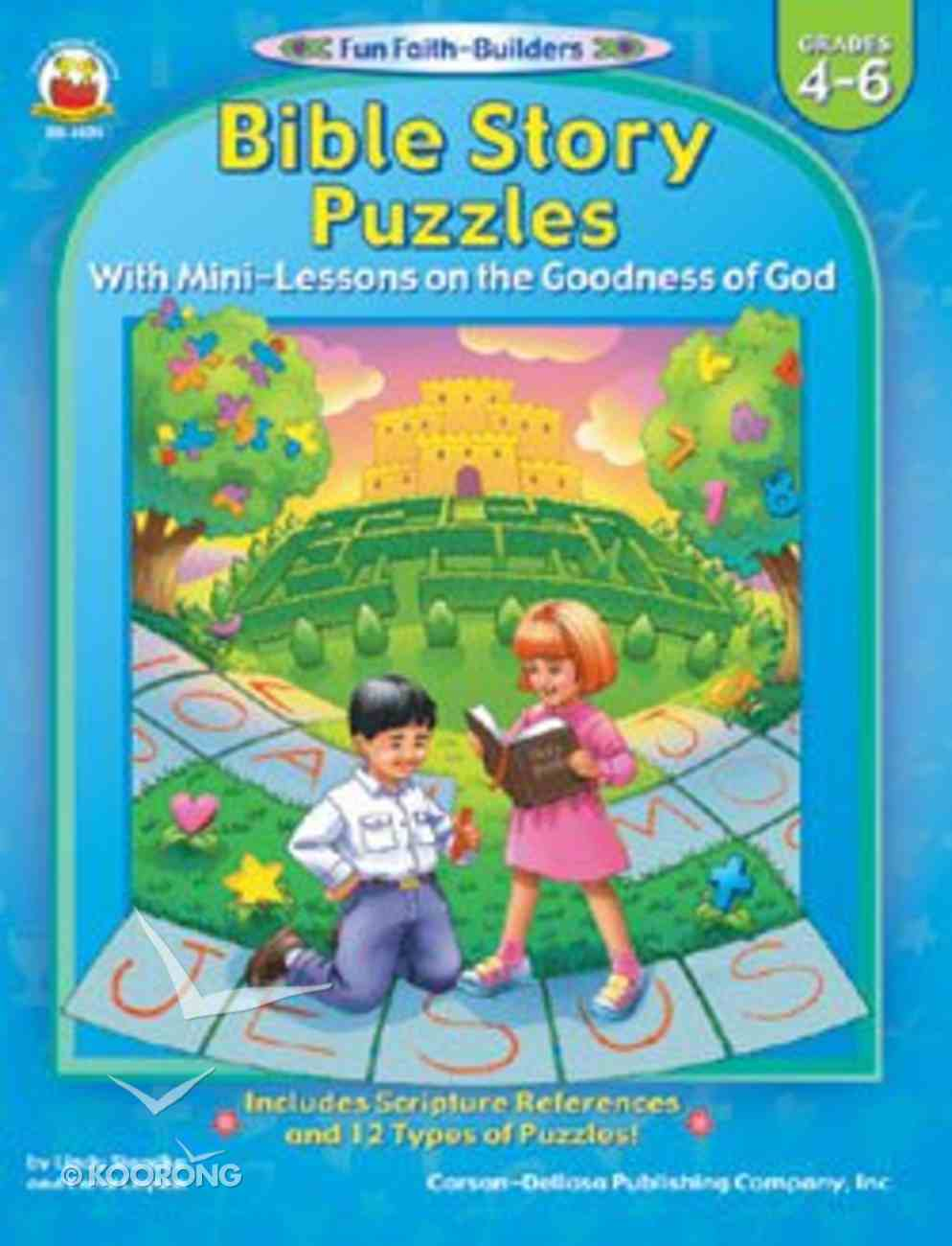 Bible Story Puzzles (Reproducible; Grades 4-6) (Fun Faith-builders Series) Paperback