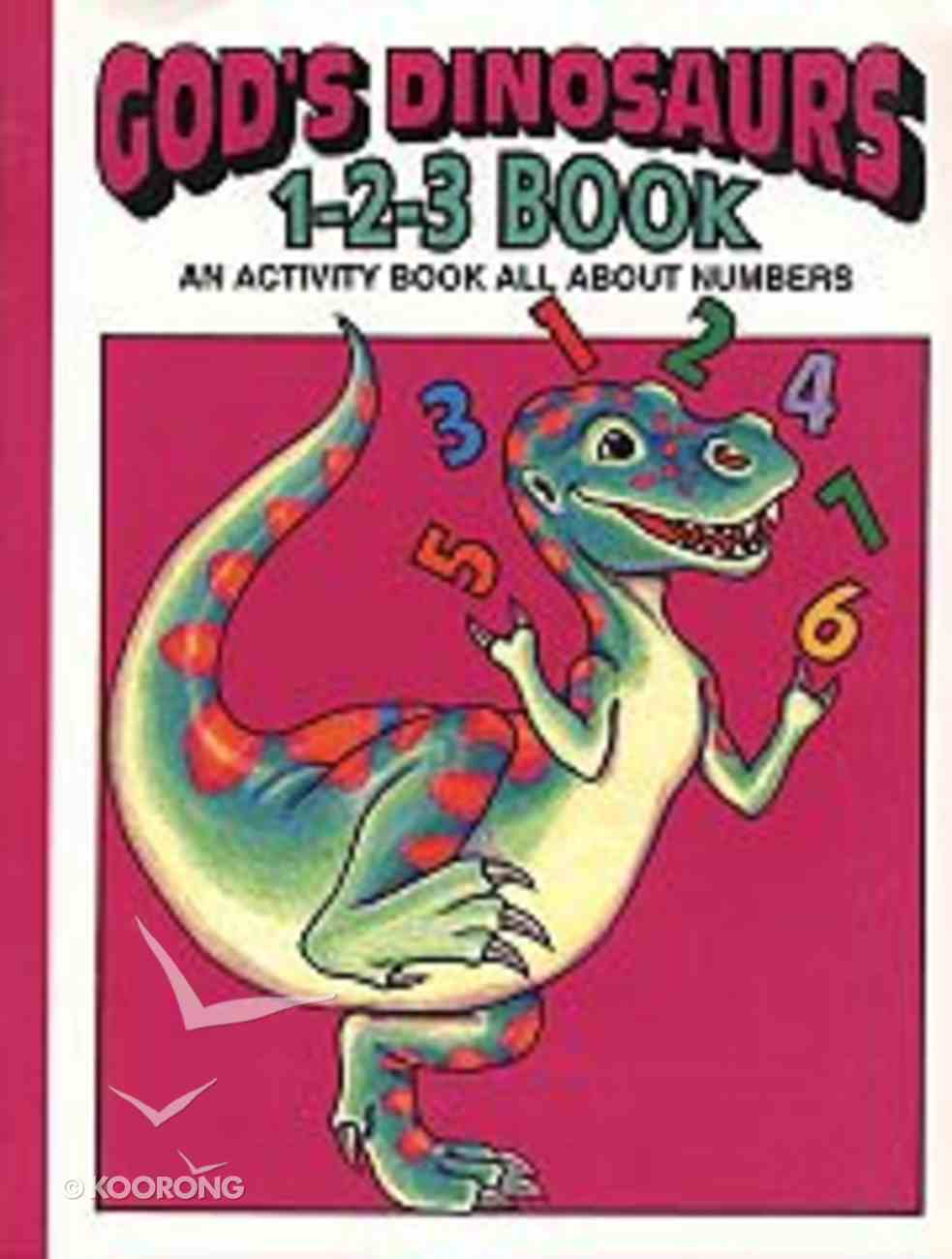 God's Dinosaurs 1-2-3 Book Paperback