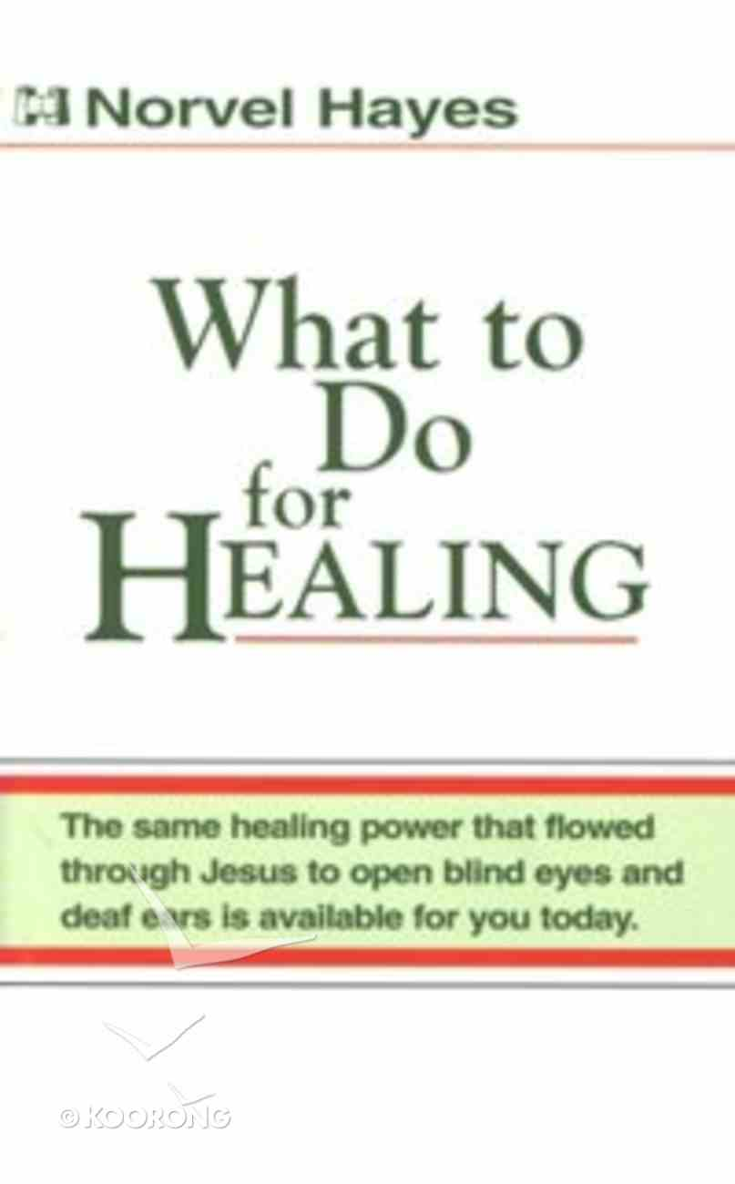 What to Do For Healing Booklet