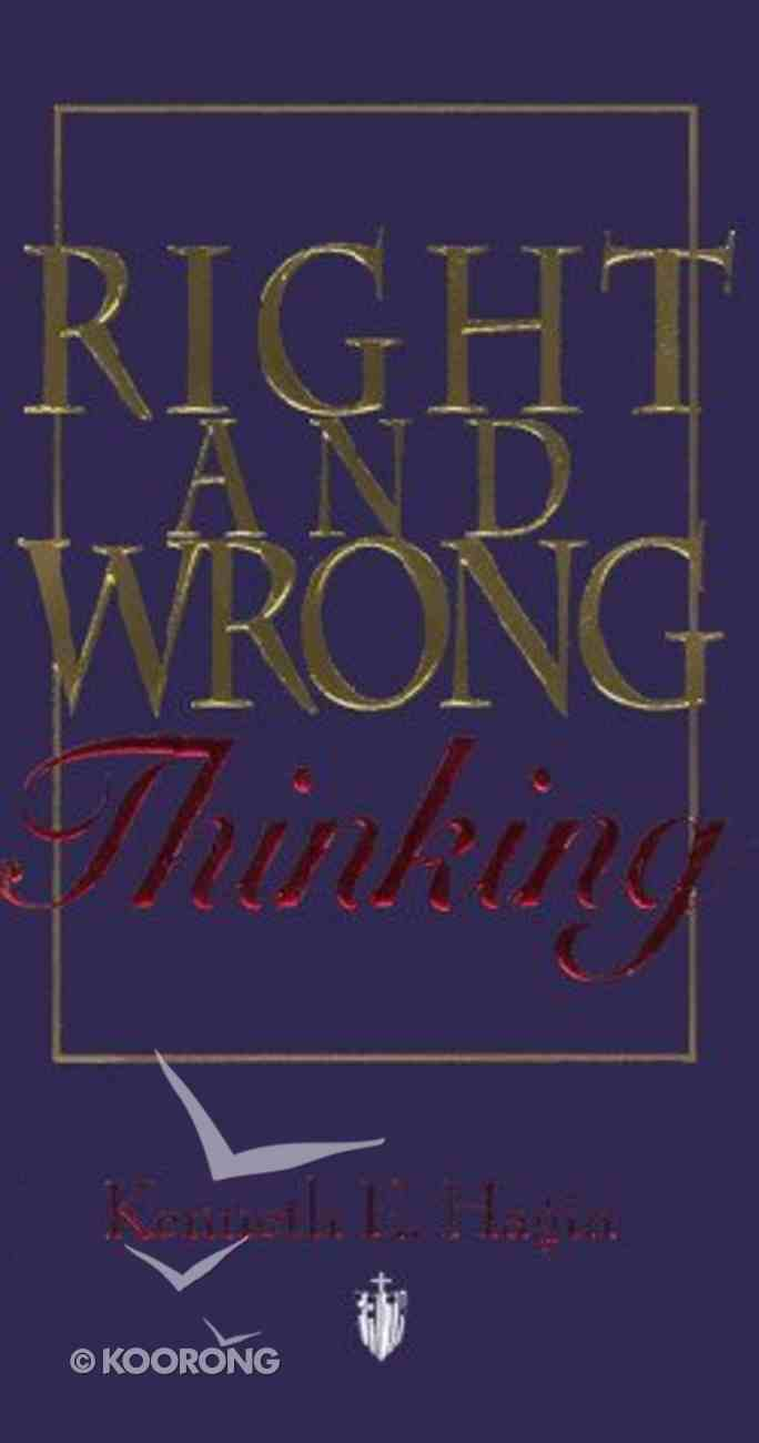 Right and Wrong Thinking Paperback