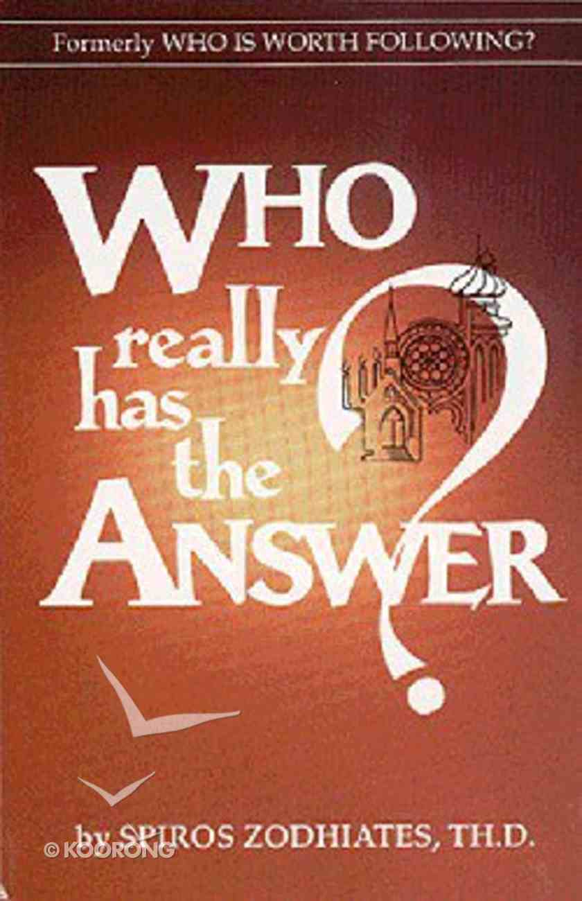 Who Really Has the Answer? Paperback
