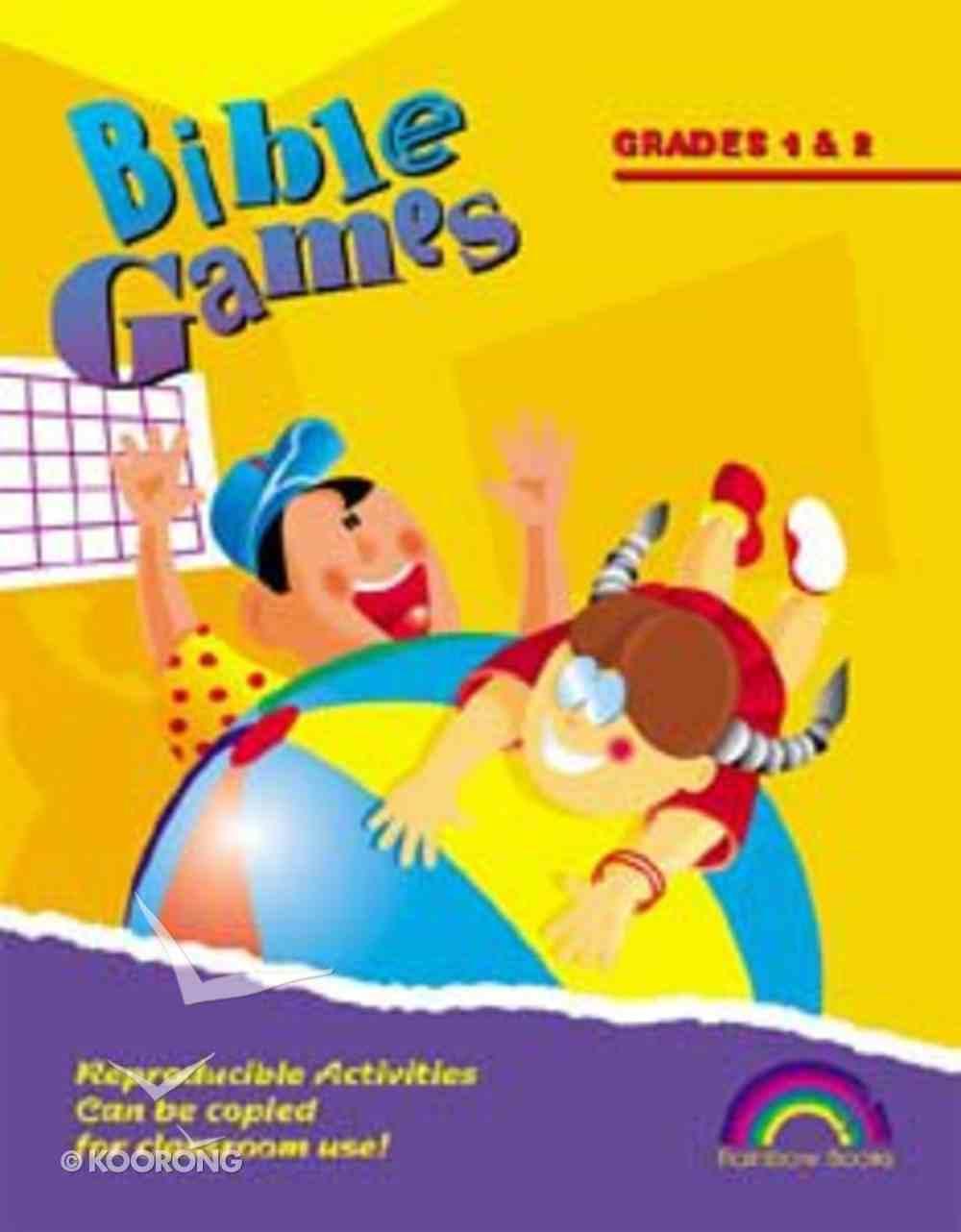 Bible Games: Grades 1&2 (Reproducible) Paperback