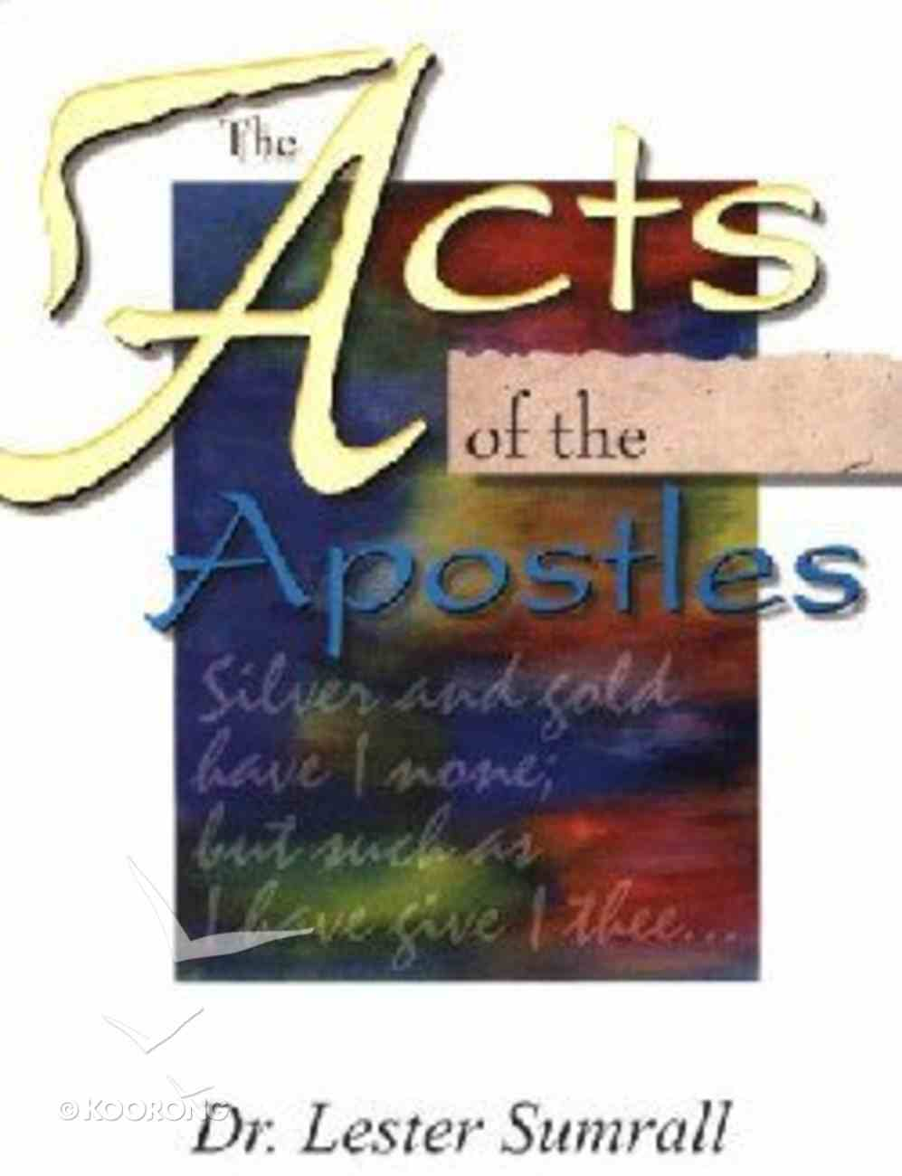 The Acts of the Apostles (Study Guide) Paperback