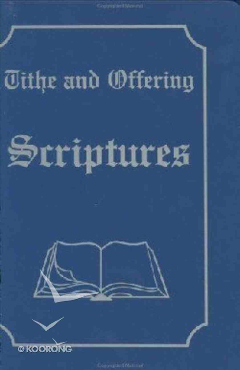 Tithe and Offering Scriptures #02 Hardback