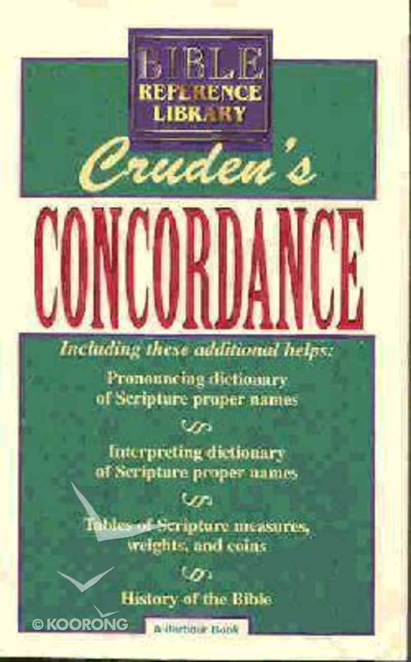 Cruden's Concordance (Bible Reference Library Series) Paperback